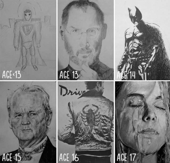 Artists Share  Before and After  Evolution of Their Drawing Skills with Years of Practice 1 - Resim Yeteneğini Geliştirmenin Yolları