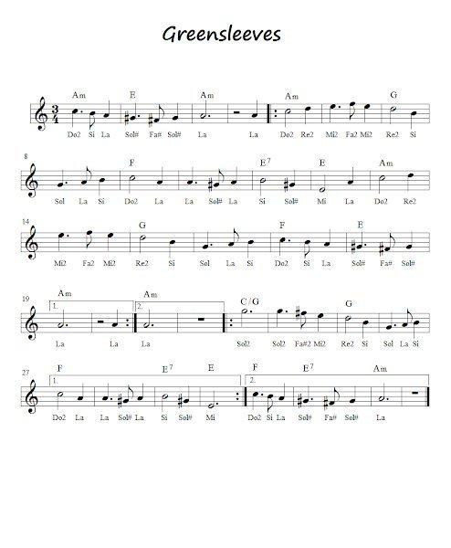 keman ile calinabilecek sarkilar greensleeves - Keman İle Çalınabilecek En Kolay Şarkılar